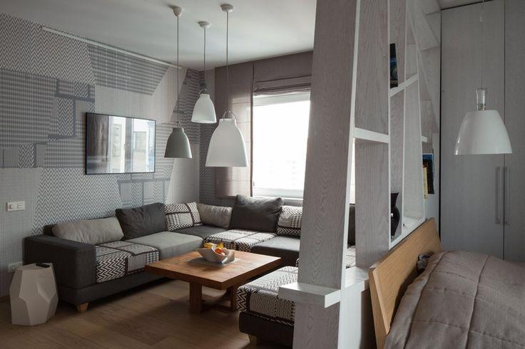 Современная квартира для молодого человека в Петербурге. Изображение №2.