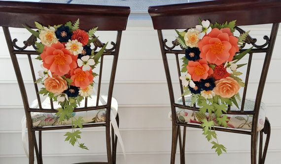 Paper Flowers - Door Decoration - Wedding Aisle Decoration - Tie Back - Chair Swag - Church Pew - Arch Flowers - CUSTOMIZED
