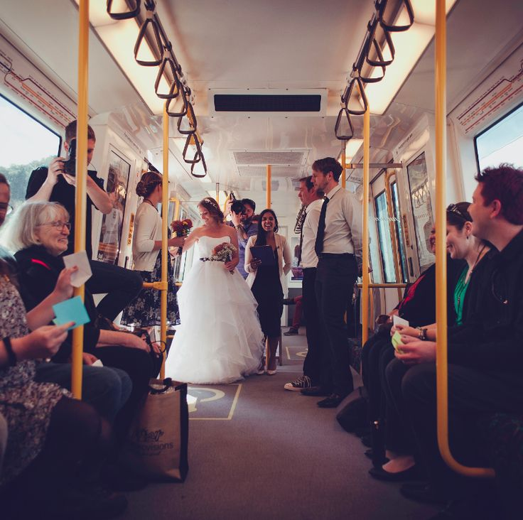 "The amazing ""train wedding"".  Fremantle Line, Perth - Michael and Megan 22/08/15 (photo credit - Josh Wells Photography)"