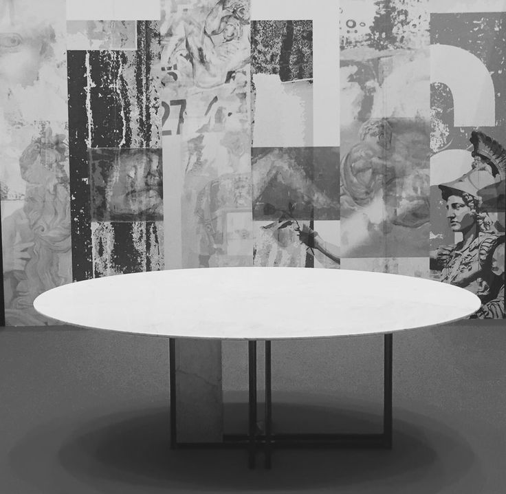 Designed by #officinarkitettura Tavolo ellisse in marmo bianco carrara