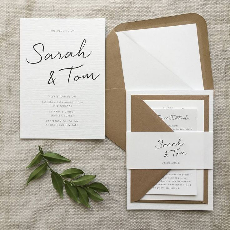 Gallery Minimalist Wedding Invitations: Minimalist Wedding Invitation In 2019