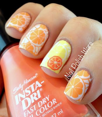 Citrus SparkleNails Art, Nail Polish, Beautiful Nails, Nails Design, Art Design, Polish Wars, Nails Polish, Citrus Sparkle, Citrus Nails