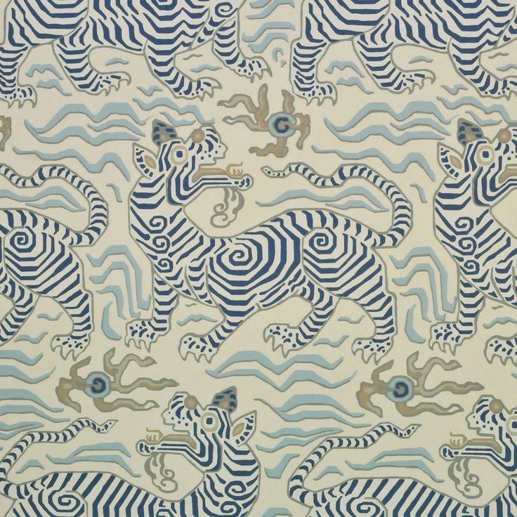 Clarence House Tibet Wallpaper In Cream