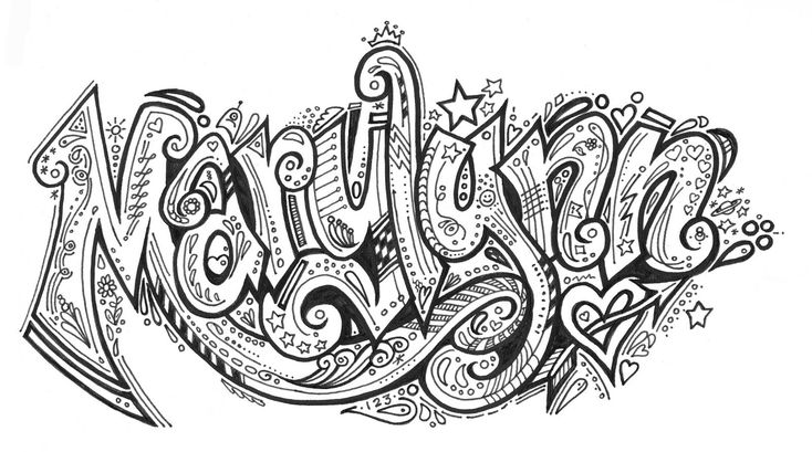 What Is Doodling Art | Organized Doodles: Doodling My Love's Name