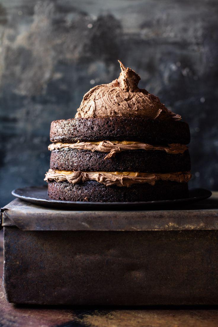 Forbidden Forest Chocolate Butterbeer Cake   halfbakedharvest.com @hbharvest