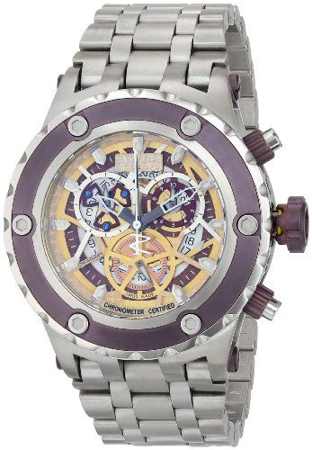 Invicta Men's 13742 Subaqua Analog Display Swiss Quartz Silver Watch *** Details can be found by clicking on the image.