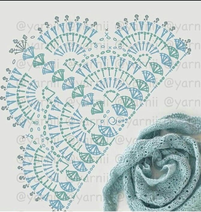Crochet shawl.  Blanket flower