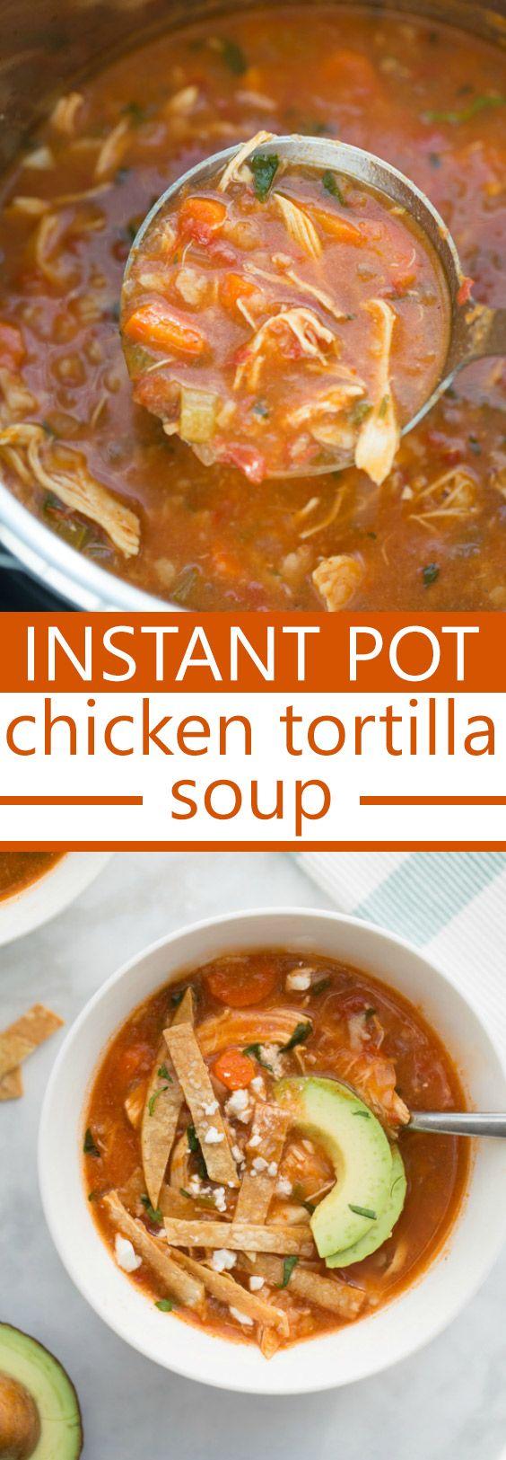 Instant Pot Chicken Tortilla Soup | Posted By: DebbieNet.com