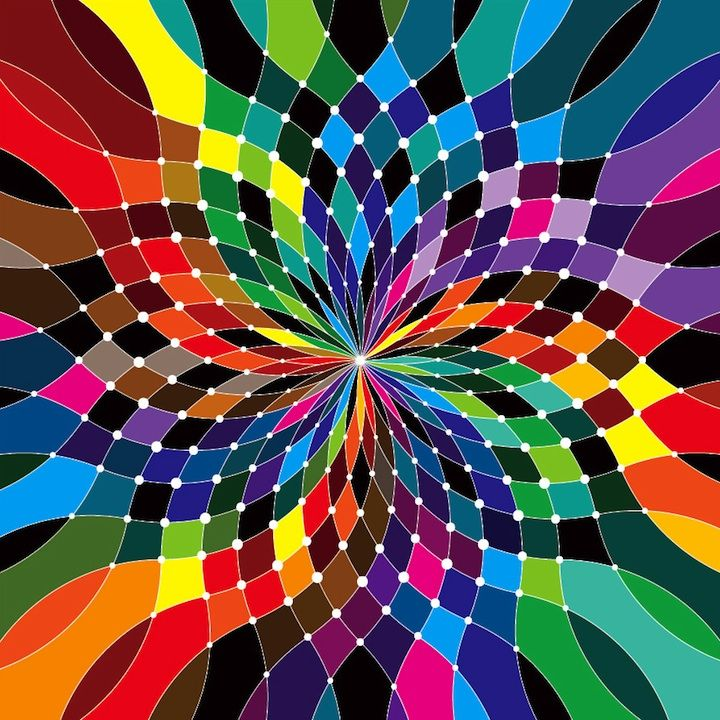 Rainbow Art Swirling Rainbow Color Wheel Color Theory