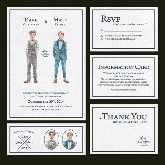 WEDDING watercolor invitation suite.Custom by LaCatrinaArt on Etsy