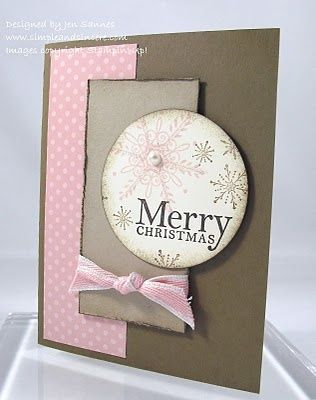 Stampin Up!Christmas Cards, Cards Ideas, Pink Christmas, Cards Christmas, Christmas Greeting, Paper Crafts, Xmas Cards, Stampin Up Christmas, Stampin Up Cards