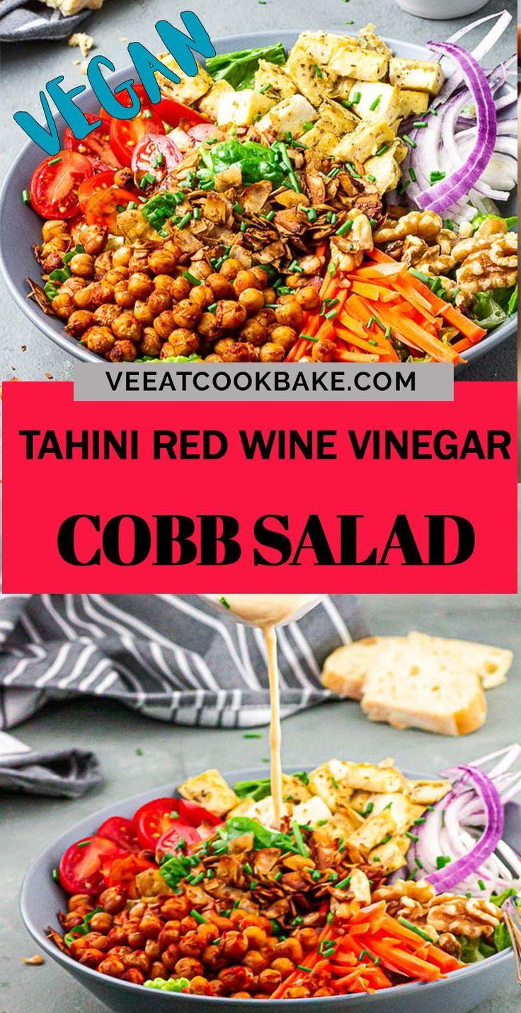 Tasty Vegan Cobb Salad Oil Free Salad Dressing In 2020 Vegan Lunch Recipes Vegetable Dishes Vegan Salad Recipes