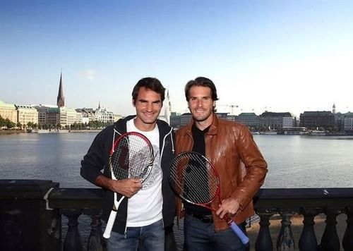Roger Federer & Tommy Haas - Shooting at Lake Alster Photos by Michael Freitag