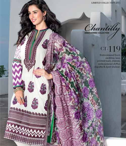 Gul Ahmed Chantilly de Chiffon festive collection CT-119