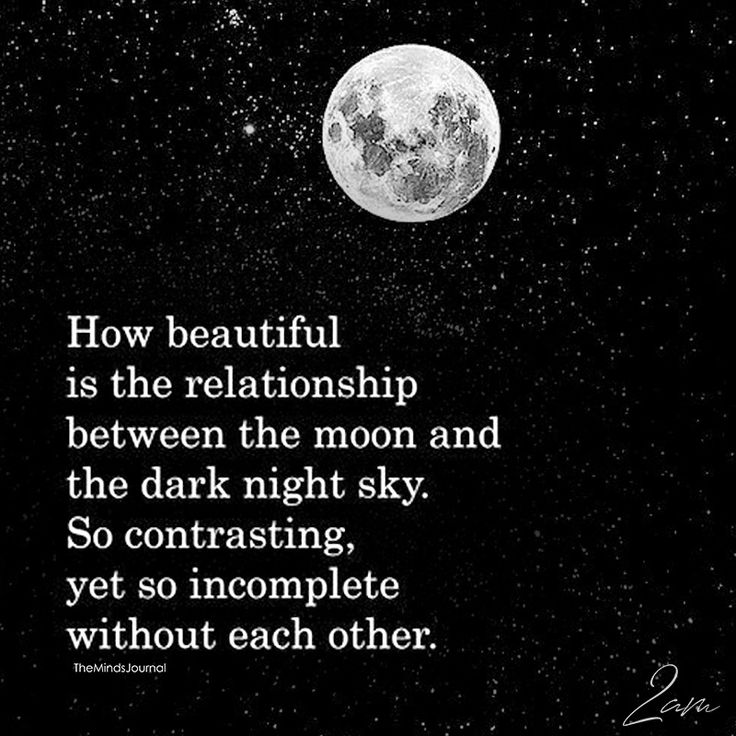 How Beautiful Is The Relationship Between The Moon And The Dark Night Sky - https://themindsjournal.com/beautiful-relationship-moon-dark-night-sky/