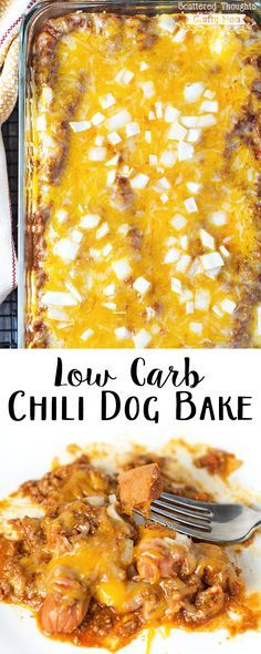 Eating Low Carb or Gluten Free?  You can still enjoy a Chili Dog with this Low Carb Chili Dog Bake Recipe!  #ad #WeLoveBarSFranks