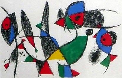 joan miro biography | Joan Miro Miro Lithographe II, Plate IX