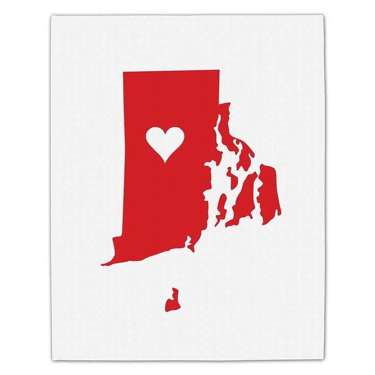 Cathy's Concepts Personalized Home State Canvas Wall Art, White