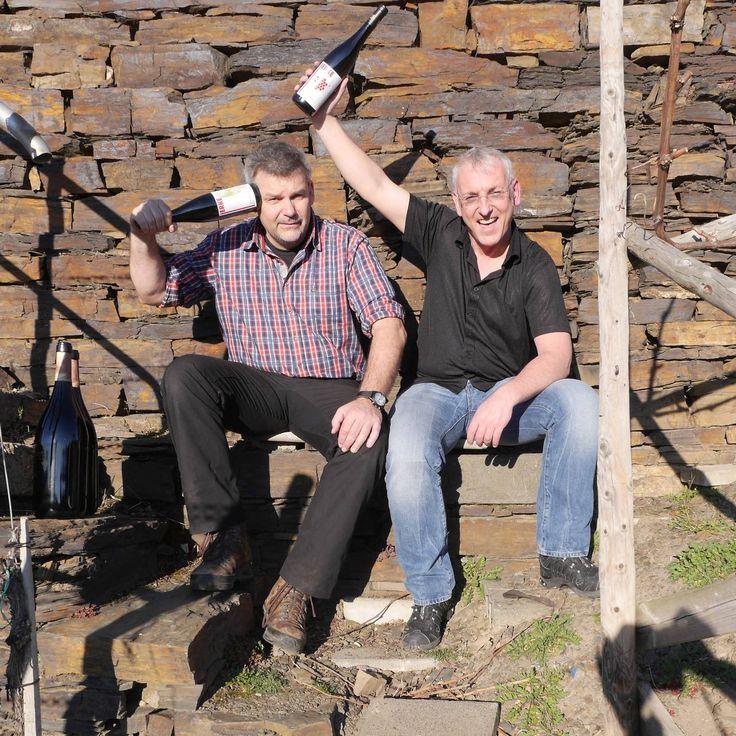 Ludwig Kreuzberg, right and Frank Josten of H. J. Kreuzberg Winery, Ahr, Germany. Top Notch Pinor Noir.
