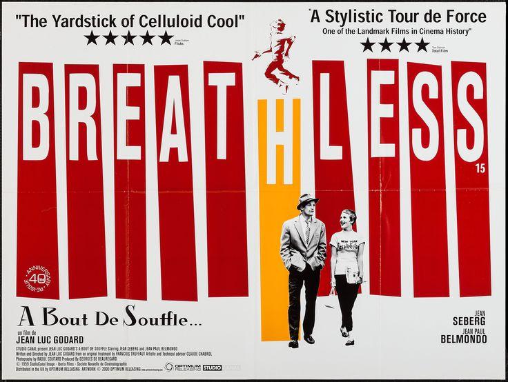 Breathless (Jean-Luc Godard, 1960) UK 2000 re-release quad design