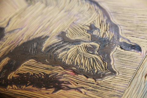 Printing by Hand-Letter Press & Wood Block — lullubee