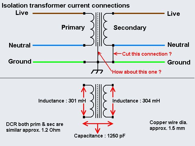 Isolation Transformer Current Connection | Techniek
