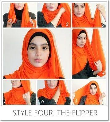 the flipper hijab tutorial