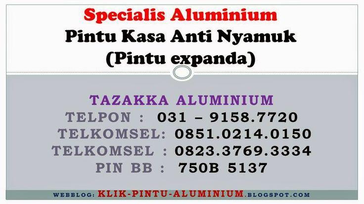 Pintu Aluminium Kasa Nyamuk / Expanda di SURABAYA - SIDOARJO - GRESIK: Pintu kasa nyamuk / Pintu expanda