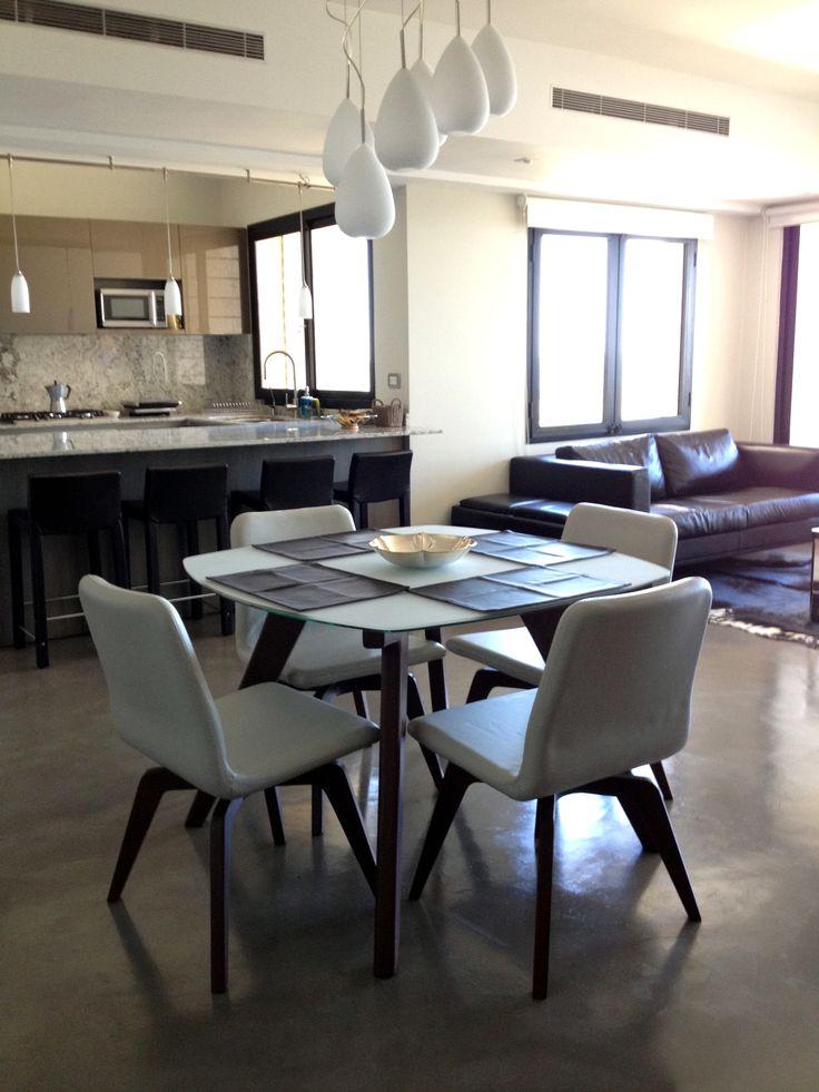 CONTEMPORARY DINING ROOM Human Dining Set La Roux Sofa Sando Barstool #ZientteDarkGlamourCollection #ZientteIndieCollection ZientteHouston