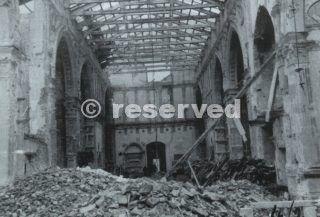 RIMINI Tempio Malatestiano dopo i bombardamenti subiti tra il dicembre 1943 e il giugno 1944