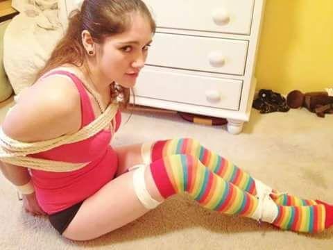 sexy xmas girl tied up