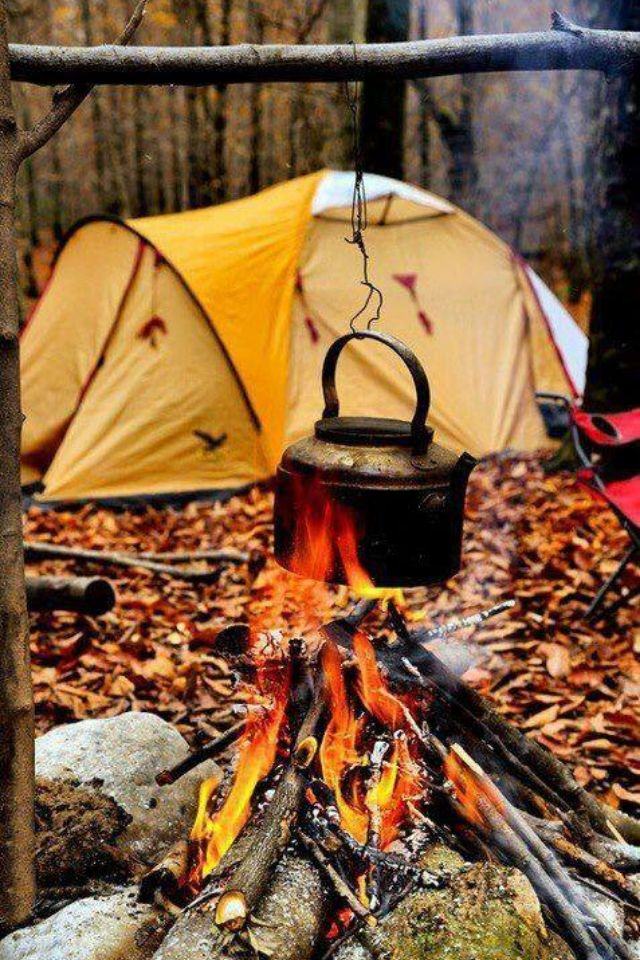 Fall Backyard Burn : fall camping  close to nature  Pinterest