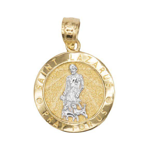 Milagrosa Framed Enamel Pendant In 10K Yellow Gold