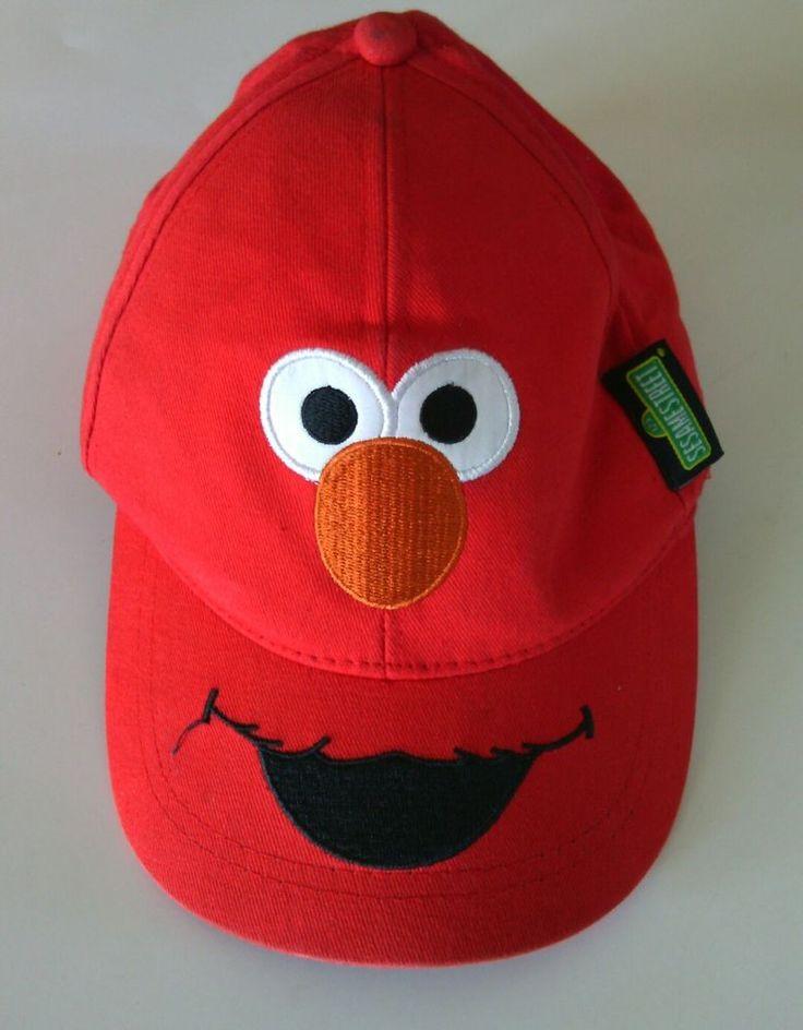 Sesame Street Elmo Baseball Hat Cap Size Adjustable Youth  Muppet TV Kids Sun | eBay