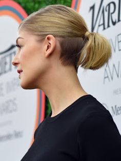 Lady Nape: Rosamund Pike Shaved Nape Undercut hairstyle