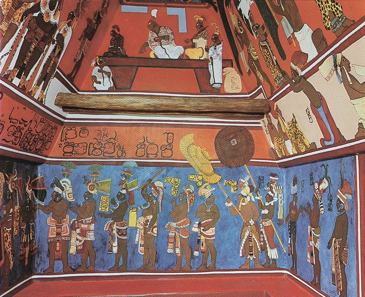Bonampak room 1 black mayans pinterest maya for Bonampak mural painting