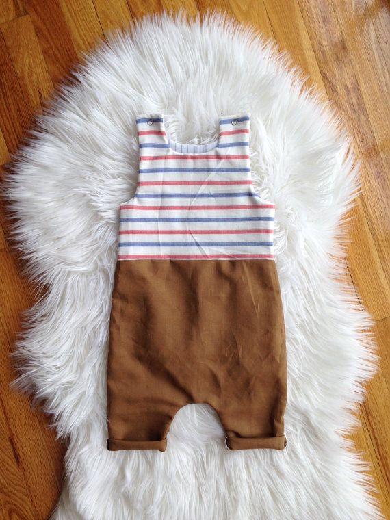 Linen Harem Romper Toddler Romper Infant Romper by CinandLuCo