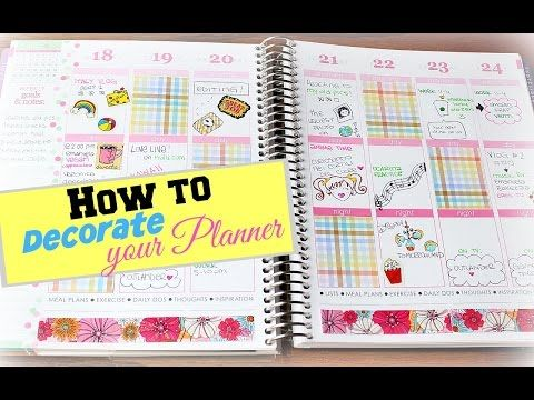 PLANNER DECORATING WITH ROXY ❤ ft MY ERIN CONDREN ^^ - YouTube