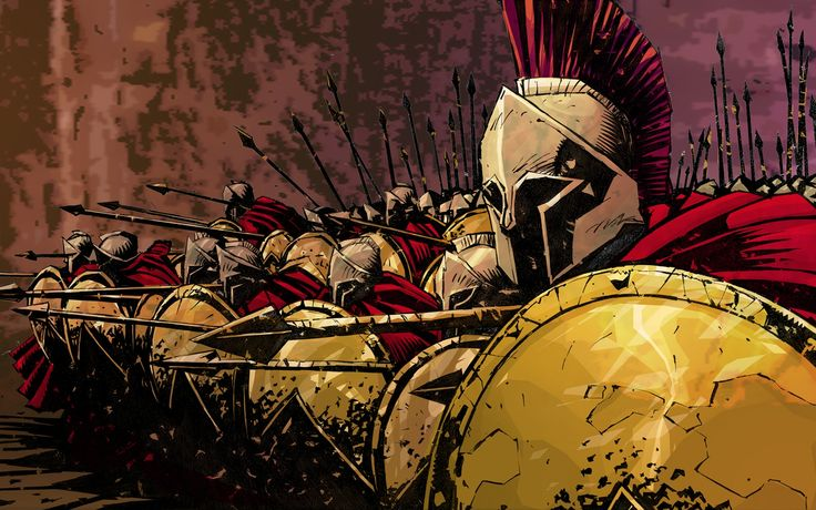 300 Graphic Novel | Créditos a Frank Miller e Lynn Varley.]