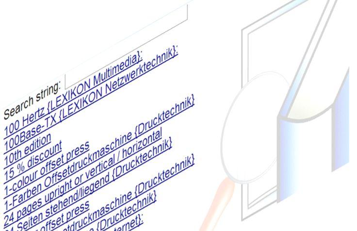 ebook-Woerterbuch + Glossar : fuer Mediengestalter / in Digital und Print – Gestaltung u. Technik