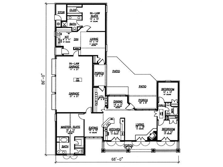 Awesome Love The Separated Inlaw Suite!!!! I Would Make A Covered Porch Area. Apartment  Floor PlansHome ...