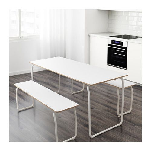 ikea ps mesa banco intext blanco plegable