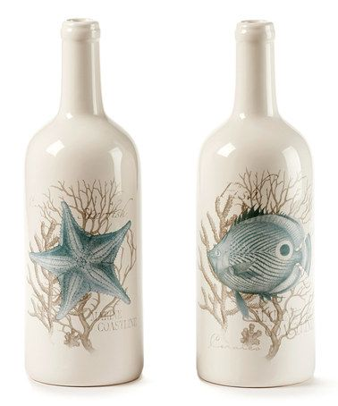 Love this Ceramic Bottle Shape Vase - Set of Two on #zulily! #zulilyfinds