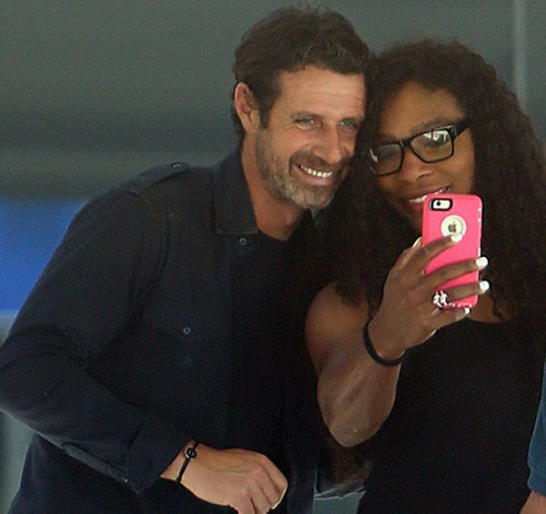Serena Williams And Her Boo Patrick Mouratoglou Taking Selfies #serenawilliams