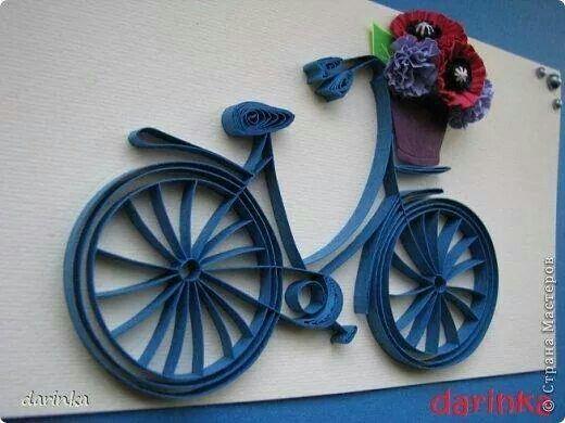 Quilled Bike - by: Unknown Quiller