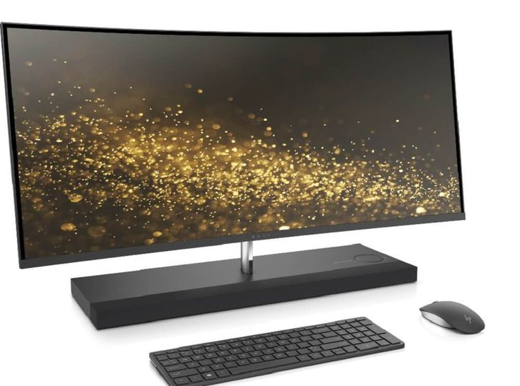 HP unveils an all-in-one computer with a curved display