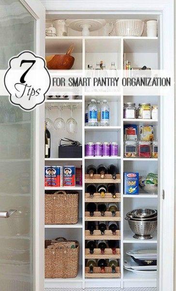 7 Tips for Smart Pantry Organization | Tipsaholic.com #home #organization #closet #kitchen #pantry