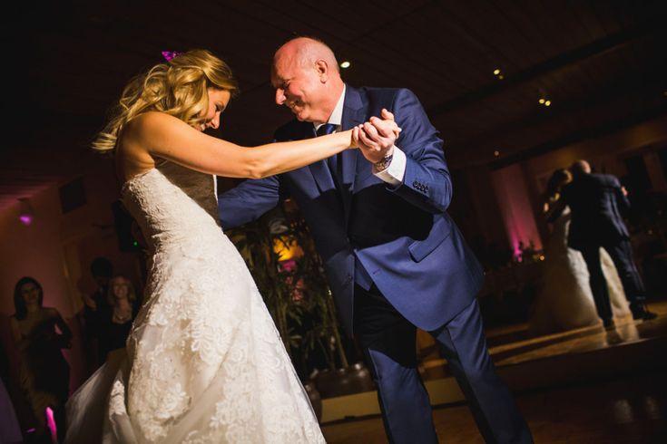 Танец невесты с отцом, крупный или средний план, чтобы читались их лица