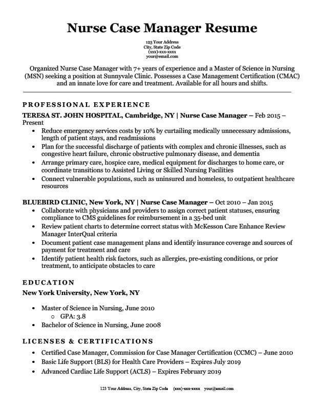 77 Interview Getting Resume Samples By Job Job Affirmations Resume Examples Good Resume Examples Nurse Job Description