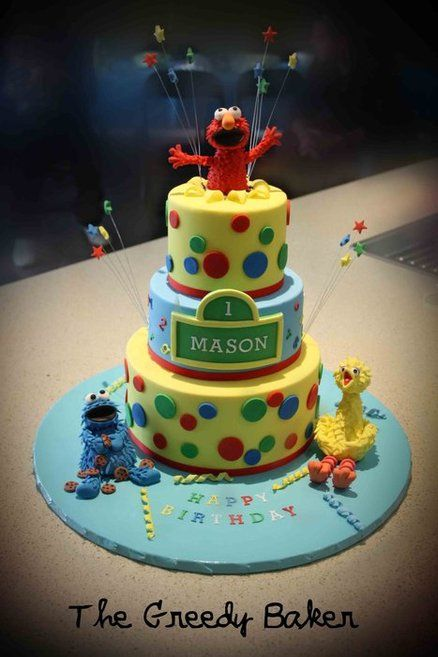 Sesame Street Birthday Bash Cake